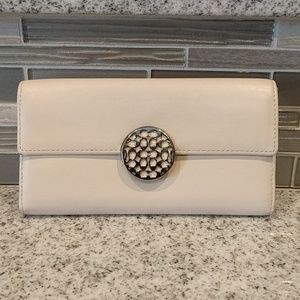 Coach long leather wallet